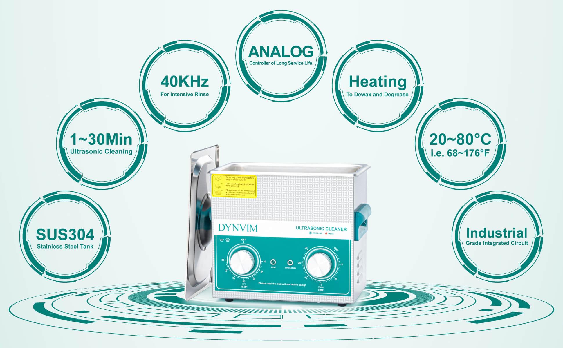 3L Analog Ultrasonic Jewelry Cleaner