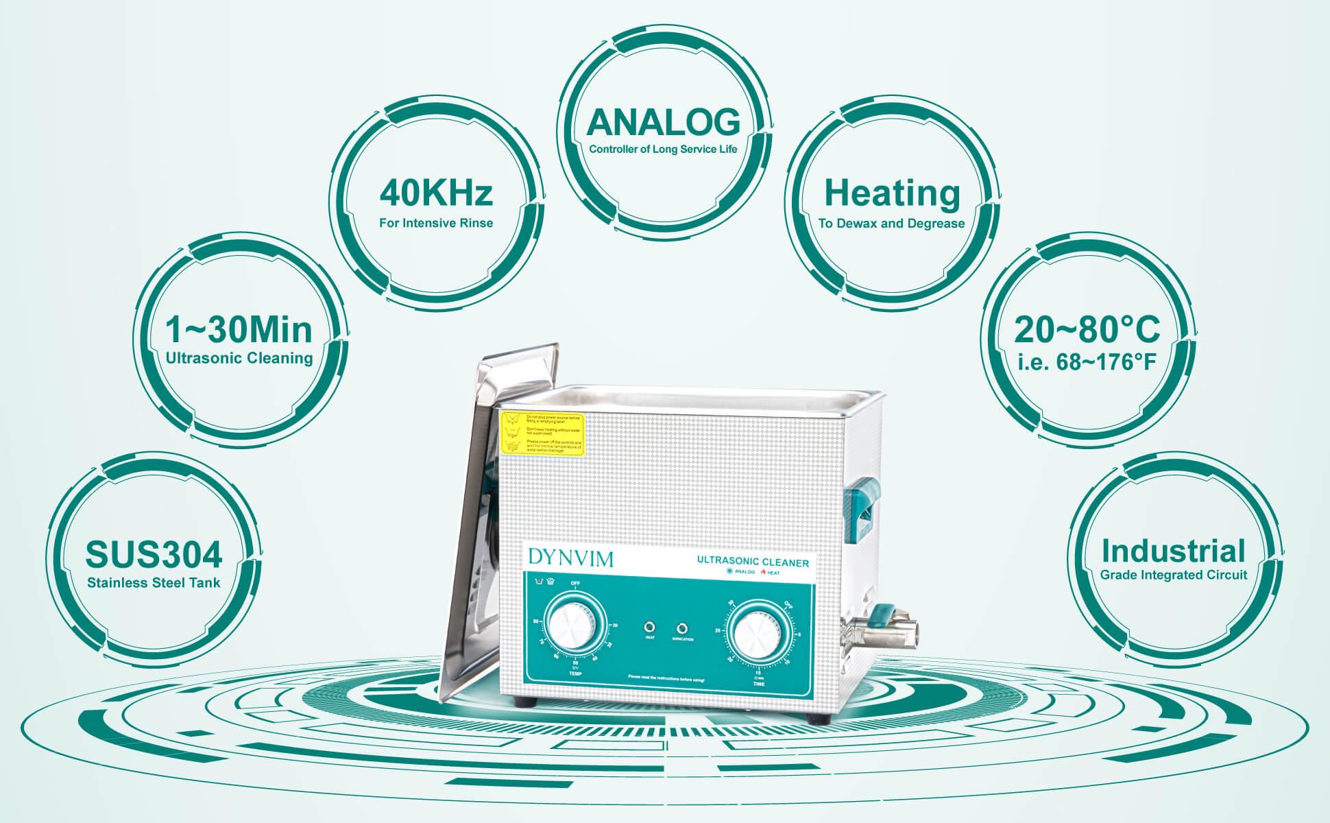 10L Analog Ultrasonic Carburetor Cleaner