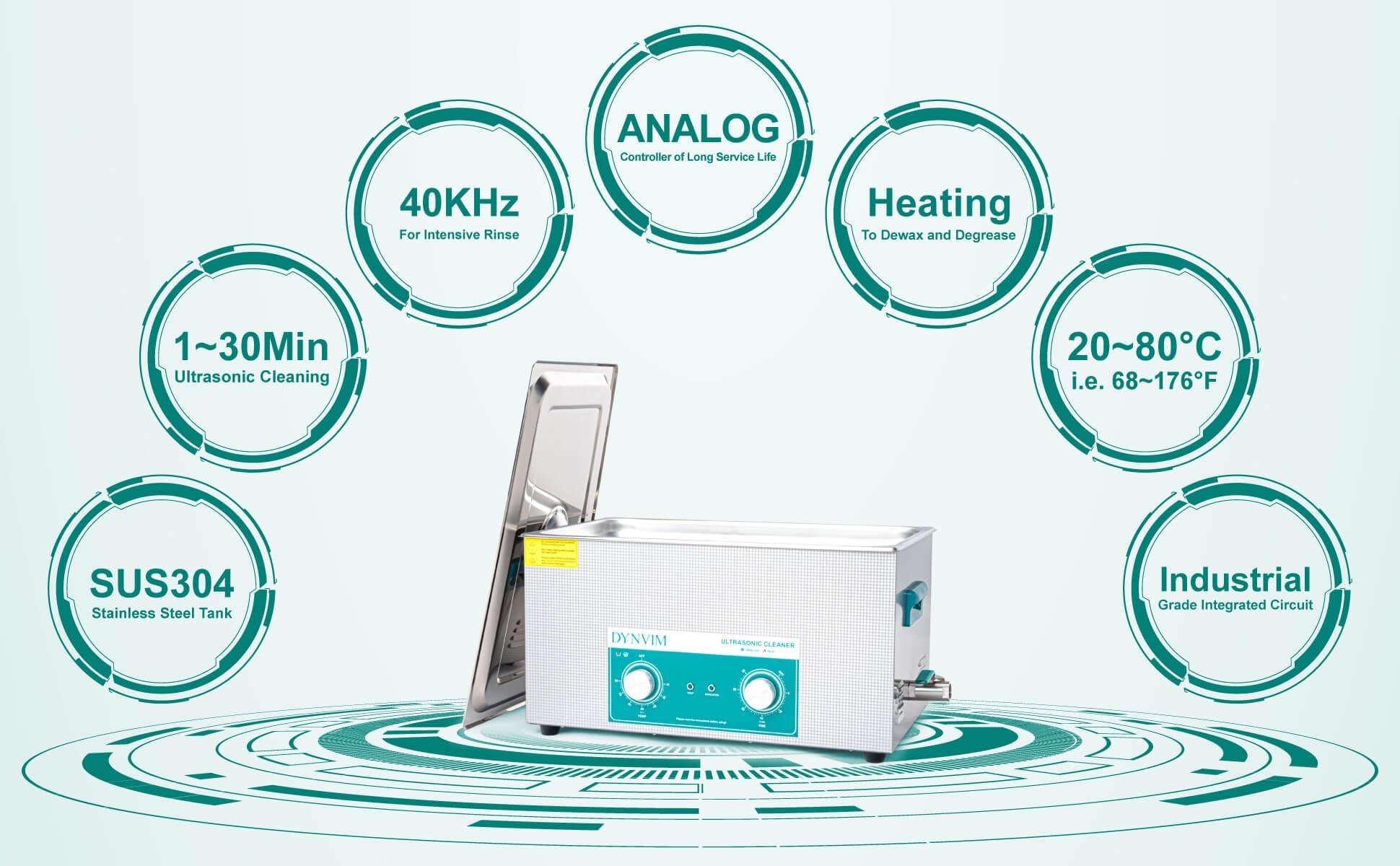 22L Analog Ultrasonic Carburetor Cleaner